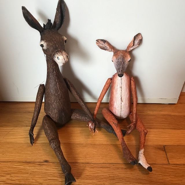 deer donkey artdolls sculpture paperclay