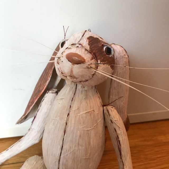 Rabbit sculpture close up