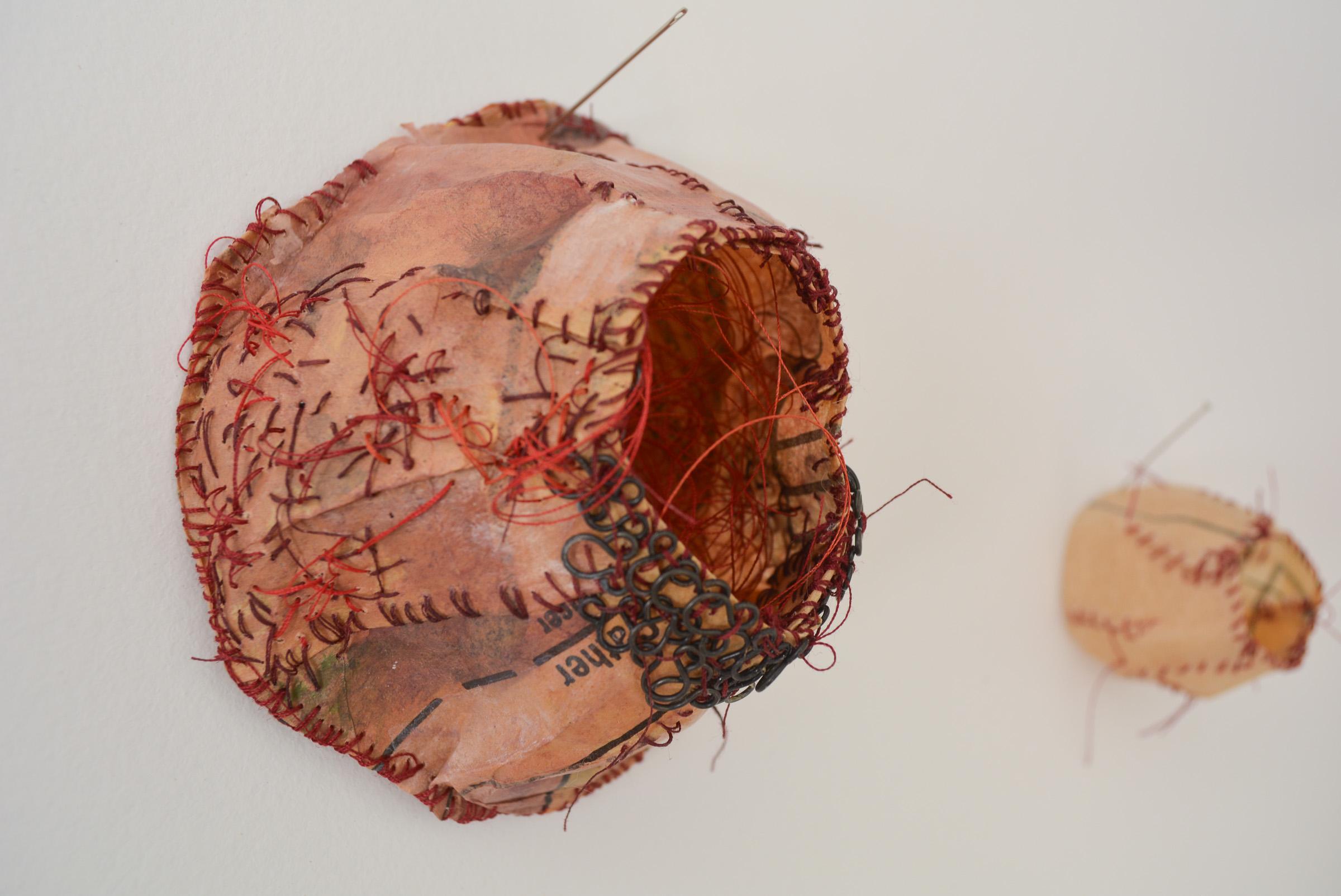 stitched paper sculptures