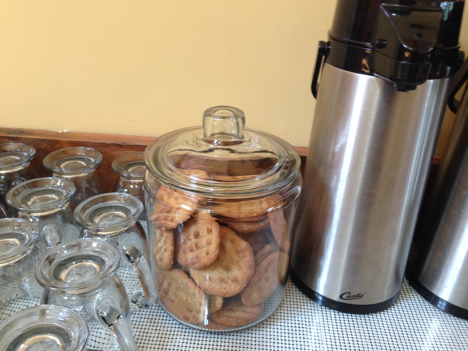 We will never forget the bottomless cookie jar and bottomless coffee carafes!