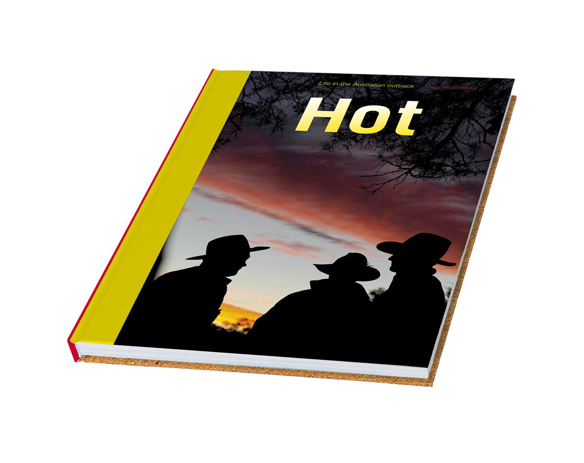 "HOT - LIFE IN THE AUSTRALIAN OUTBACK      Thijs Heslenfeld drove a four-wheel-drive    bushca mper    all the way through South Australia and Northern Territory, to shoot for this photo book. Ten thousand kilometres of dusty tracks and dirt roads, coast to coast through one of the hottest, most remote and extreme places on our planet.      'Travelling in the outback means you're alone most of the time, and solely responsible yourself. If you get bitten by a snake, you'll most probably die. And if your vehicle rolls over, chances are you won't be found for the next couple of days, simple as that. But in fact it is exactly this simplicity and responsibility that brings me much closer to nature, and to myself.'     'Hot' shows the outback in a way even the local cowboys don't see it. As Thijs puts it himself: 'My images are always about life and the incredible beauty of it. This book is a showcase of everything I met on my way that touched me - people, wildlife, insects or beautiful skies. It is not a romanticised image of what the outback could very well have been. It is a picture of what it in fact is: a vast, inhospitable and beautiful piece of our planet.'      Heslenfeld is an alchemist, transmuting the blood, sweat and grit of the outback into something spectacular. Close-ups of human and animal detritus, dead bird's claws, a bloodied calf and dumped tyres take on a magical quality.   Wanderlust Magazine  (UK, English - PDF)      I was impressed and surprised at the same time. Lost for words actually. This was so totally different from any photo book I had ever held in my hands. Very uncompromising, just like the country it portraits. It captures the harshness of it in high definition. It makes you not only see it, it makes you feel it, at times in an unsettling way.   Australia Travel Secrets  (Australia, English)      Zowel 'Hot - Life in the Australian outback' als 'Cold - Sailing to Antarctica' zijn boeken waar een grote mate van liefde en eigenzinnigheid uit spreekt. Liefde voor het leven, liefde voor de natuur, liefde voor het mooie beeld.   cadoc.nl  (Dutch)      The flat, distant horizon and spectacular dawn hues are beautifully rendered in his latest book, Hot. Crossing the centre of Australia from north to south, Thijs brings to life some of the continent's most remote areas. While the scenery is undeniably spectacular, it's the people who give the outback its character and he captures them honestly in their environment.   Outback Magazine  (Australia, English - PDF)      Thijs' photography is extremely good, he captures the things you would see and mixes this with the things you'd probably miss.   ephotozine.com  (UK, English)                Normal     0             21             false     false     false         NL     X-NONE     X-NONE                                                                                                                                                                                                                                                                                                                                                                                                                                                                                                                                                                                                                                                                                                             /* Style Definitions */  table.MsoNormalTable 	{mso-style-name:Standaardtabel; 	mso-tstyle-rowband-size:0; 	mso-tstyle-colband-size:0; 	mso-style-noshow:yes; 	mso-style-priority:99; 	mso-style-parent:""""; 	mso-padding-alt:0cm 5.4pt 0cm 5.4pt; 	mso-para-margin-top:0cm; 	mso-para-margin-right:0cm; 	mso-para-margin-bottom:10.0pt; 	mso-para-margin-left:0cm; 	line-height:115%; 	mso-pagination:widow-orphan; 	font-size:11.0pt; 	font-family:""Calibri"",""sans-serif""; 	mso-ascii-font-family:Calibri; 	mso-ascii-theme-font:minor-latin; 	mso-hansi-font-family:Calibri; 	mso-hansi-theme-font:minor-latin; 	mso-fareast-language:EN-US;}      Published by Oost West Thijs Best, English txt, hardcover, 188 pages, ISBN 9789081247023, price € 39,50    'Hot' is available from  amazon.co.uk ,  bol.com  (The Netherlands) and  cosmox.be  (Belgium). Please note some of these sites will tell you the book is in Dutch.  That is not correct; all text is in English!      You can also order here on this website; ordering is quick and secure via PayPal - we ship with TNT Priority services. Please allow 5 days for delivery in Europe and 5-10 days outside Europe. All books are sealed & packed in top quality Multiwell cartons - we guarantee undamaged arrival!      Click here  if you are ordering from within The Netherlands (free shipping!)      Click here  if you are ordering from anywhere else on the planet                         Normal     0             21             false     false     false         NL     X-NONE     X-NONE                                                                                                                                                                                                                                                                                                                                                                                                                                                                                                                                                                                                                                                                                                             /* Style Definitions */  table.MsoNormalTable 	{mso-style-name:Standaardtabel; 	mso-tstyle-rowband-size:0; 	mso-tstyle-colband-size:0; 	mso-style-noshow:yes; 	mso-style-priority:99; 	mso-style-parent:""""; 	mso-padding-alt:0cm 5.4pt 0cm 5.4pt; 	mso-para-margin-top:0cm; 	mso-para-margin-right:0cm; 	mso-para-margin-bottom:10.0pt; 	mso-para-margin-left:0cm; 	line-height:115%; 	mso-pagination:widow-orphan; 	font-size:11.0pt; 	font-family:""Calibri"",""sans-serif""; 	mso-ascii-font-family:Calibri; 	mso-ascii-theme-font:minor-latin; 	mso-hansi-font-family:Calibri; 	mso-hansi-theme-font:minor-latin; 	mso-fareast-language:EN-US;}"