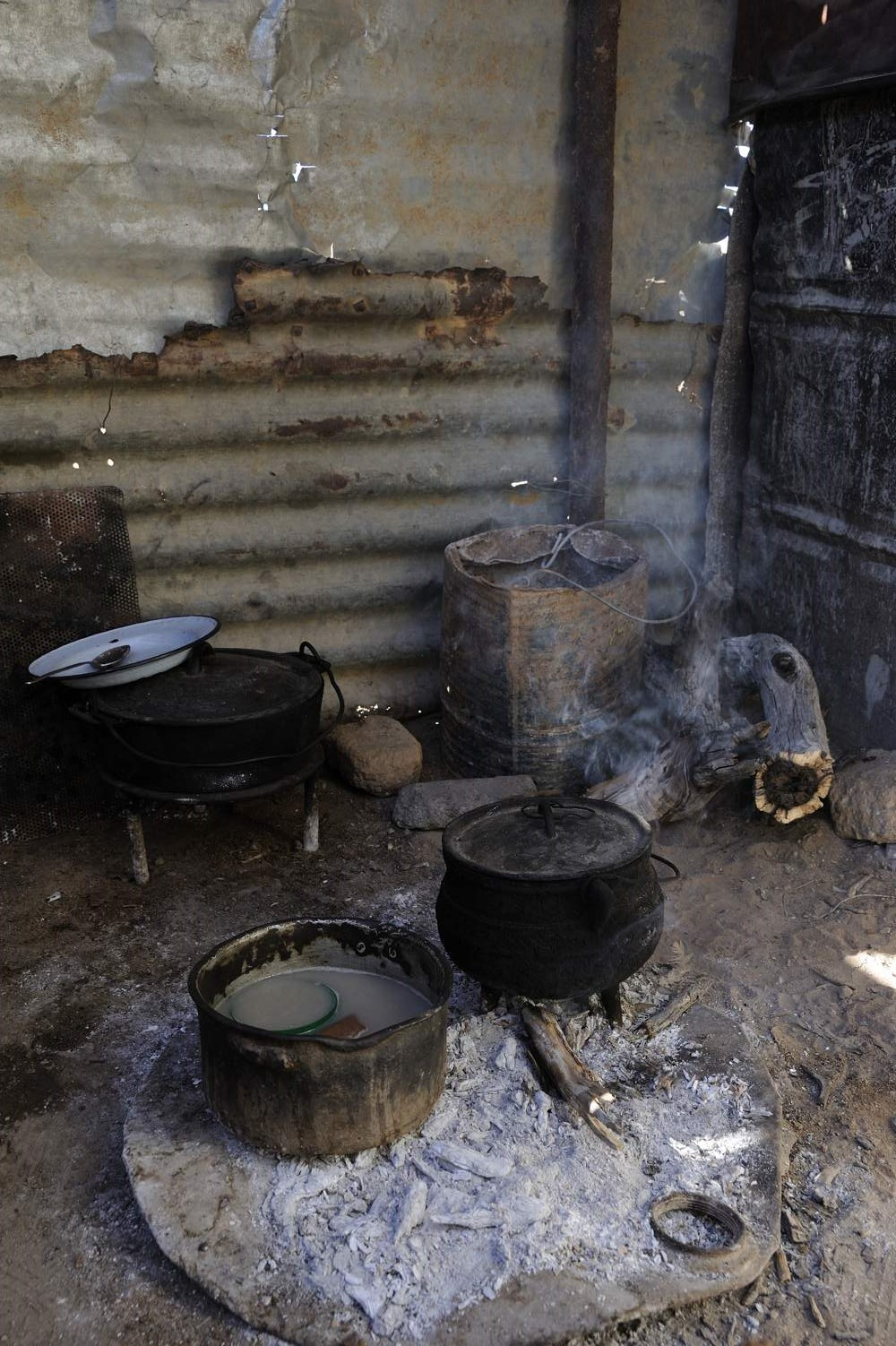 De keuken van het gezin Swartbooi.