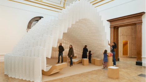 Exhibition-goers interact with an installation. Source: Royal Academy.