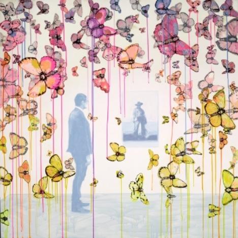 Sage Vaughn's signature butterflies. Source: Lazarides.