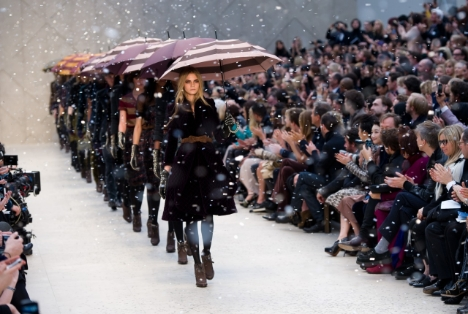 Cara Delevingne walks for Burberry. Source: Guardian.