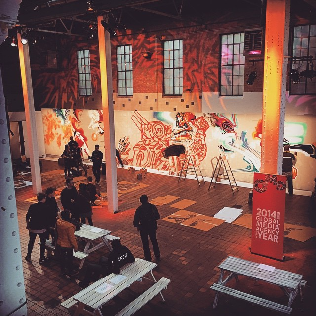 Setting up for the #ChappieMovie event in #Shoreditch