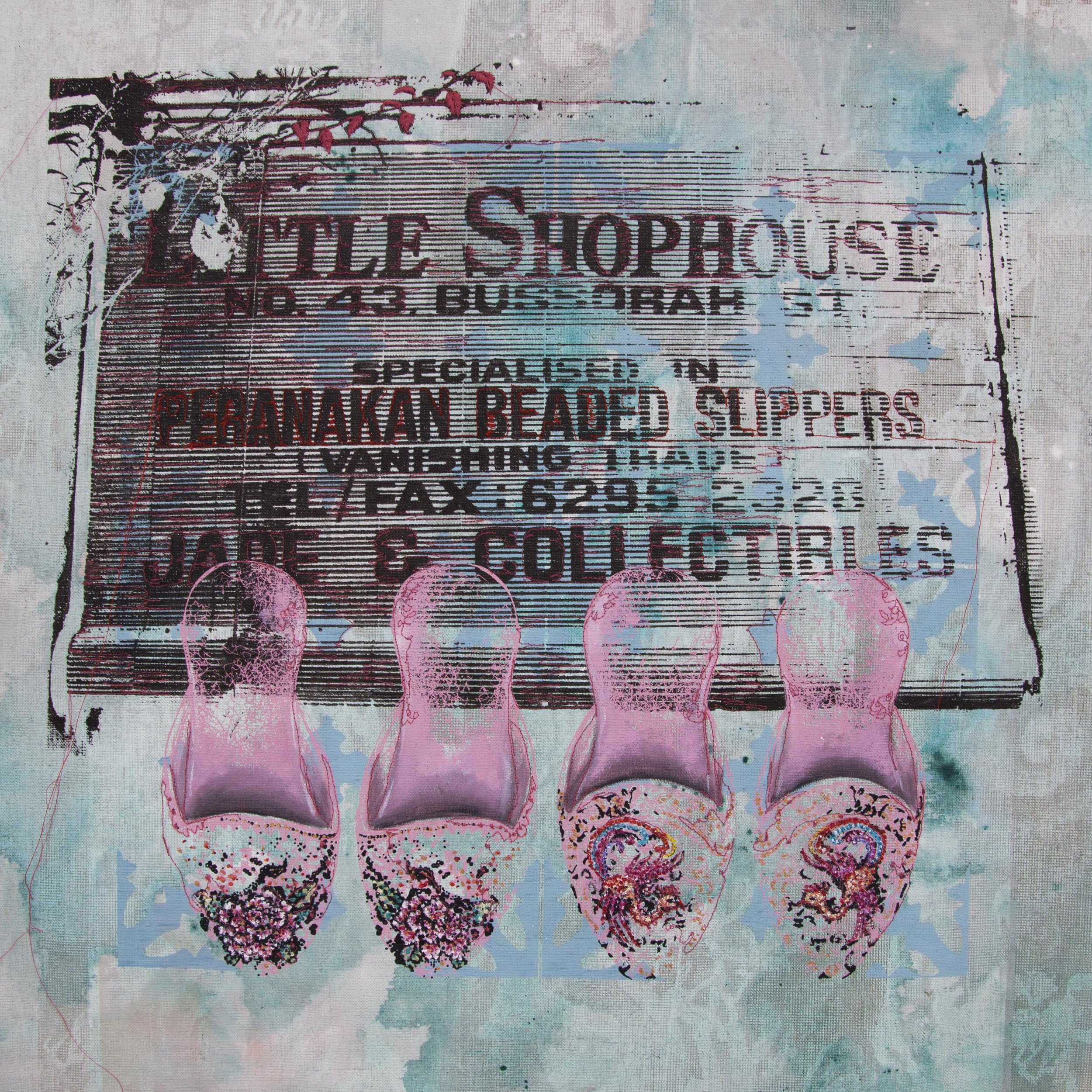 Title: Shophouse Slippers in Pink