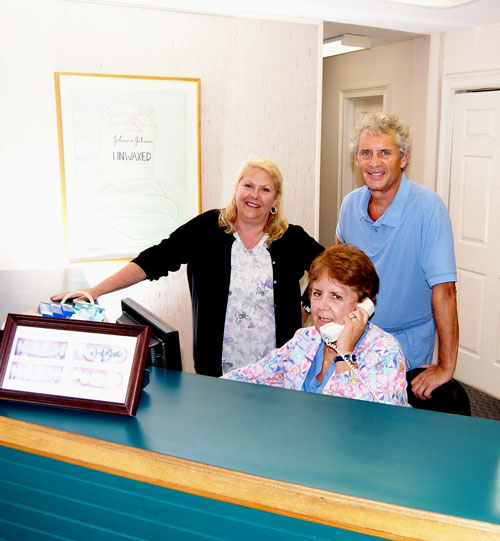 Your friendly dental staff: Keith, Carina, and Nancy