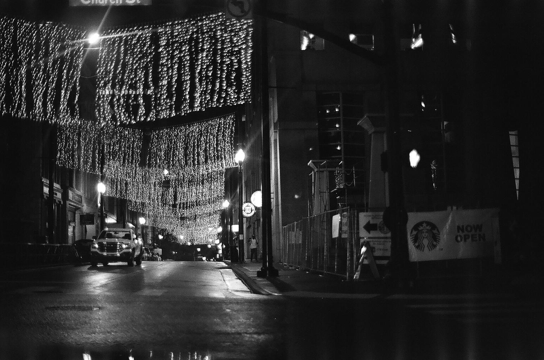 Lights hovered over a side street in Nashville (film).