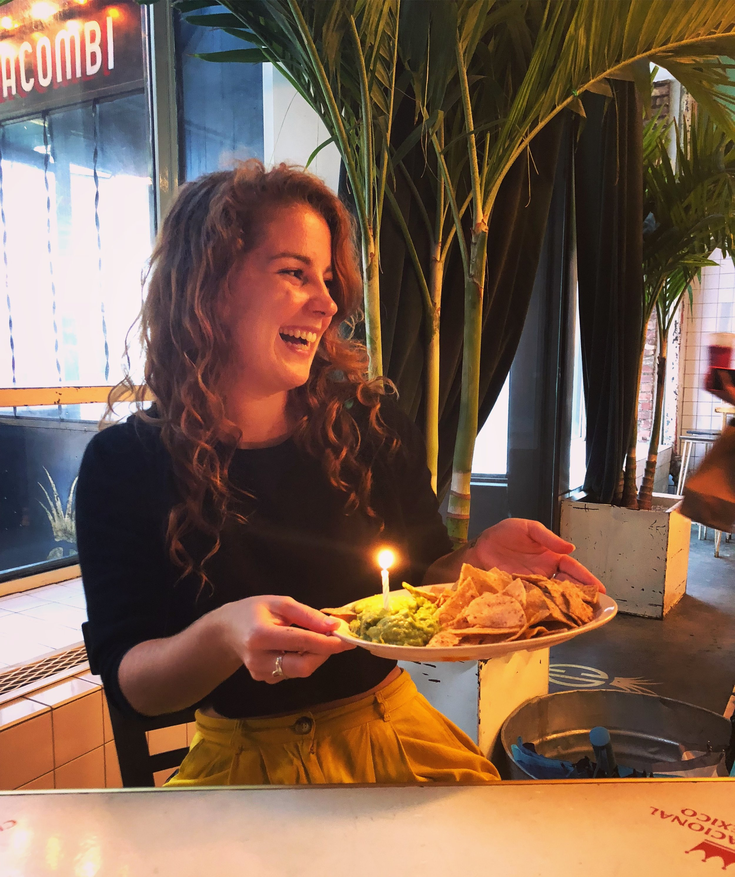 Yes, that is me with birthday guacamole.