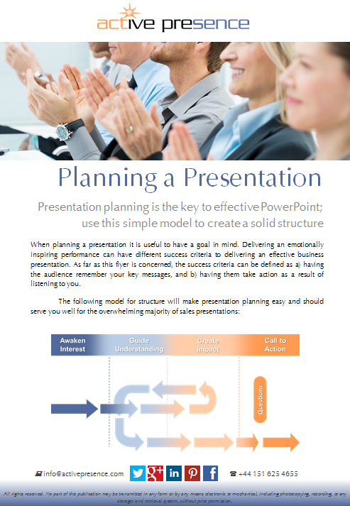 planning a presentation free advice