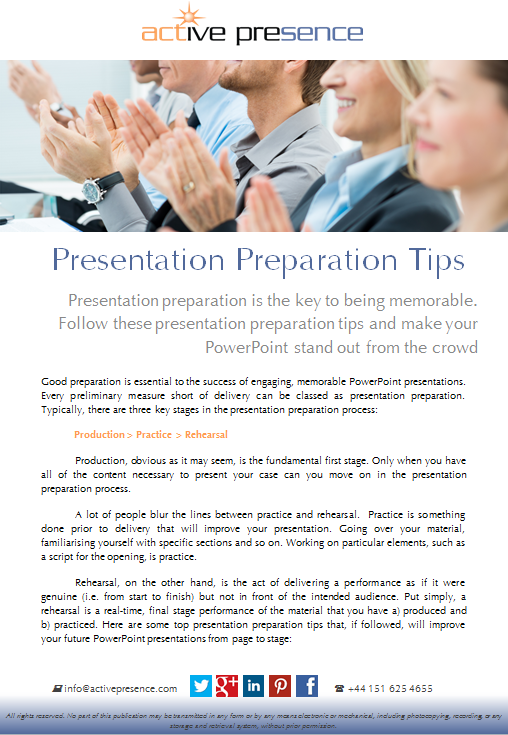 presentation preparation tips free advide