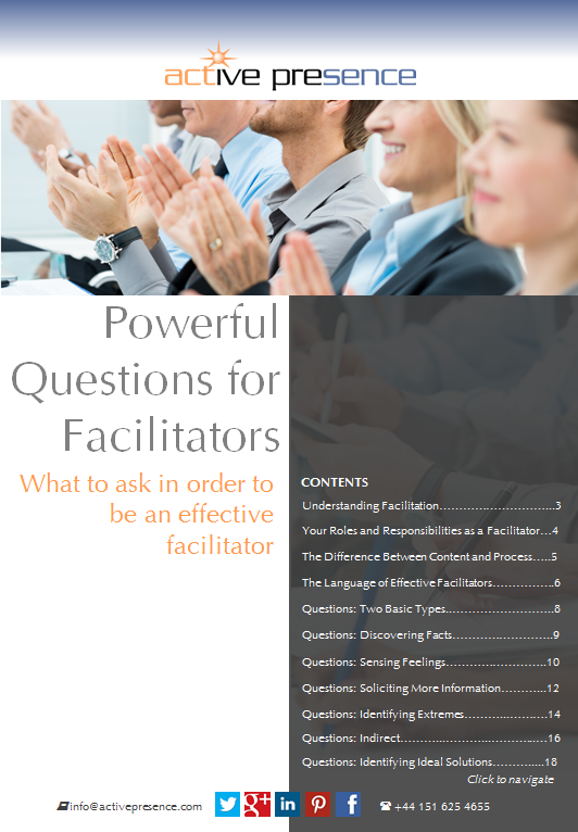 powerful questions for facilitators free advice