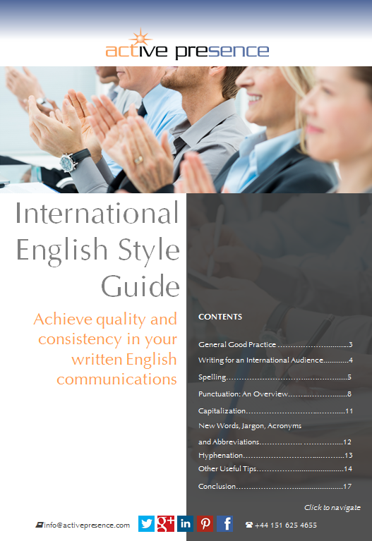 international english style guide free advice