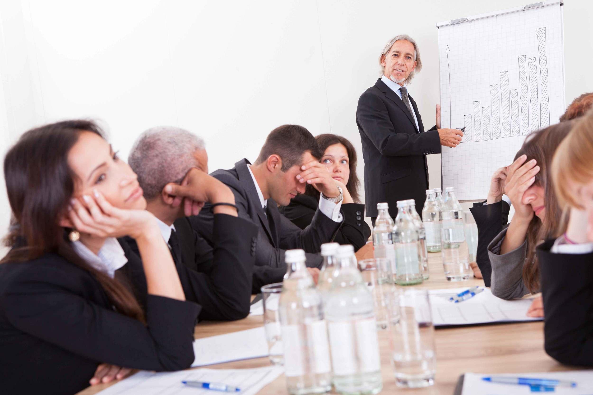 Presentations three things to avoid