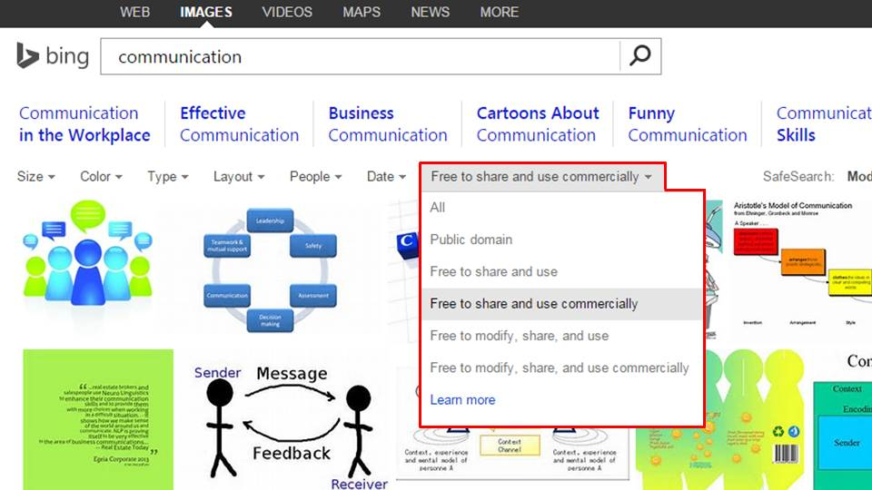 Microsoft Bing Commercial use Images PowerPoint Presentations