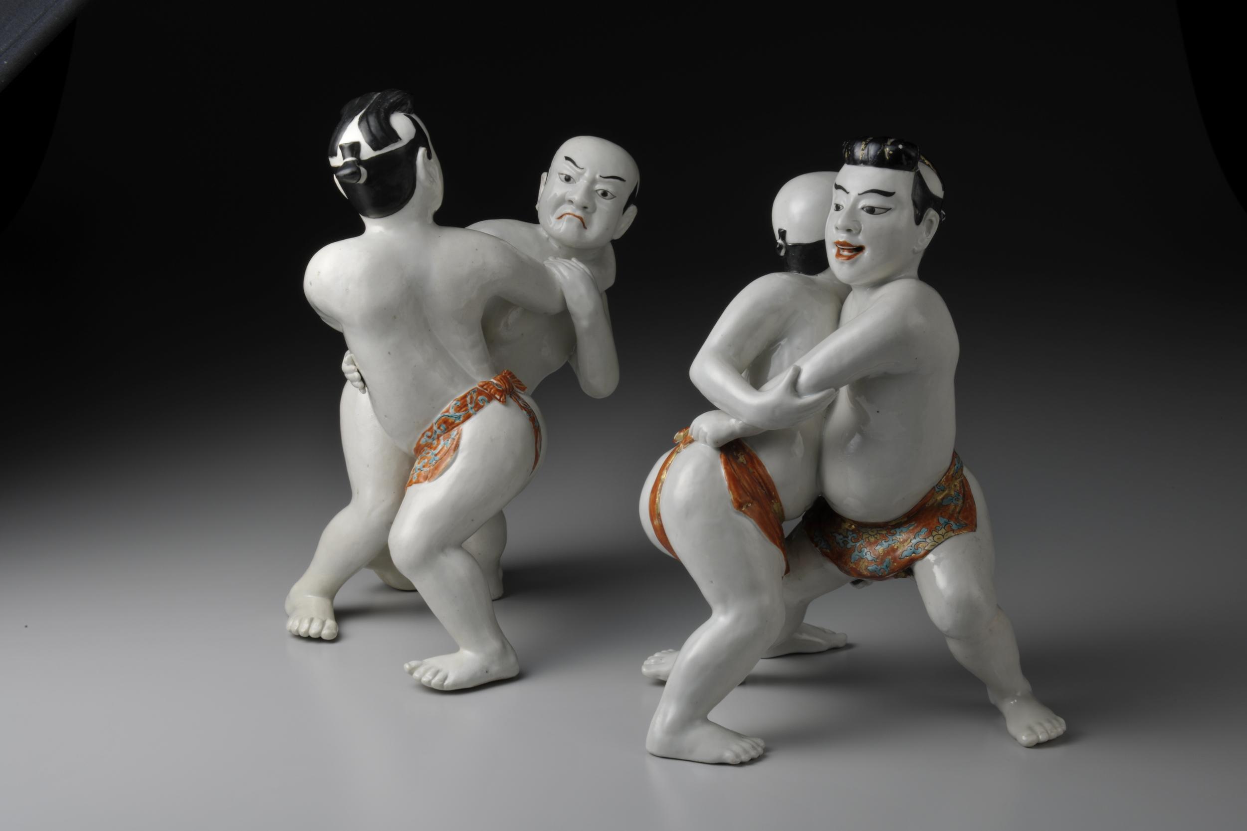 Little sumo wrestlers, Arita. The Edo period (1680-1710)