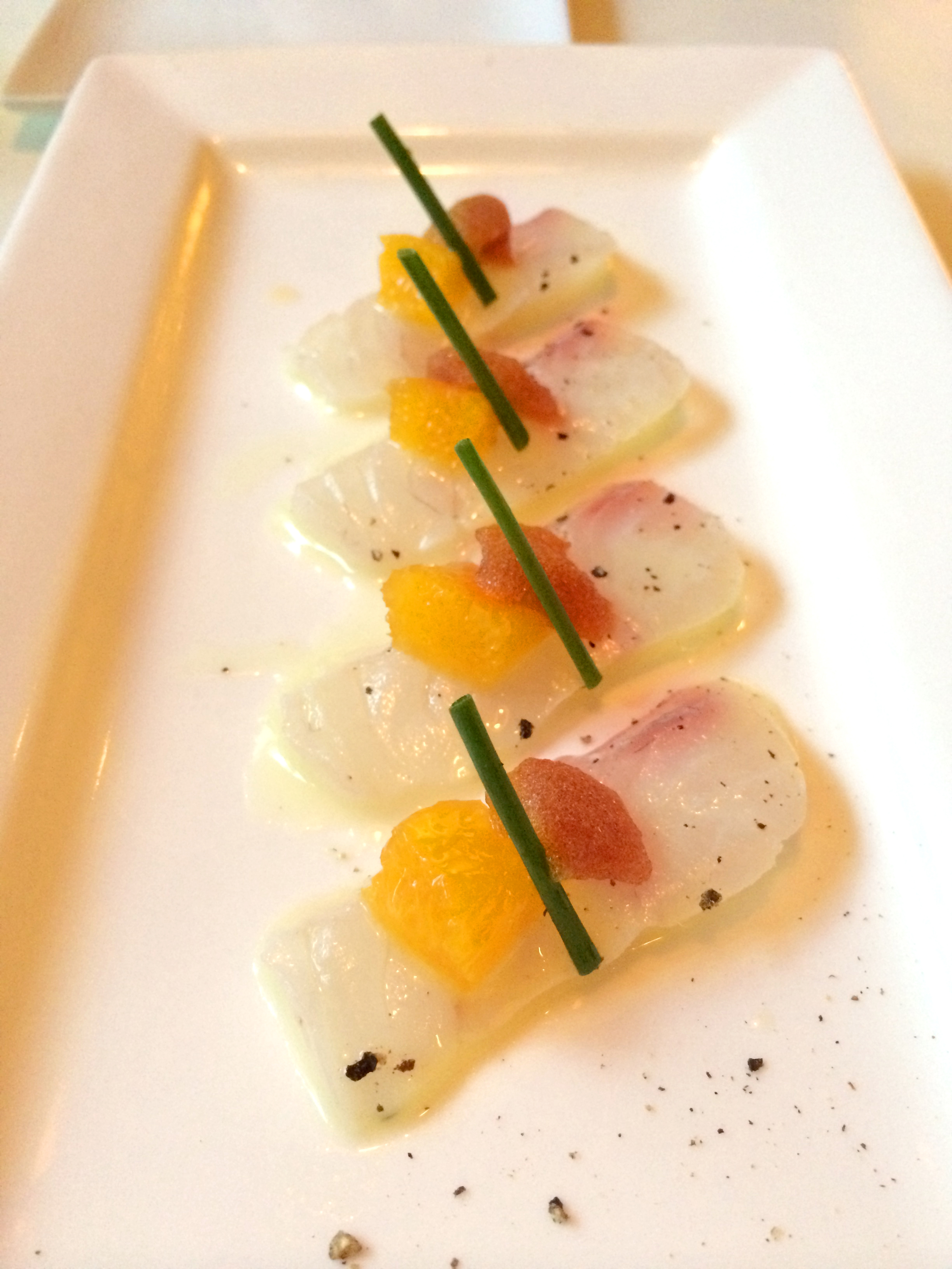 Fluke carpaccio with Ponzu mousse
