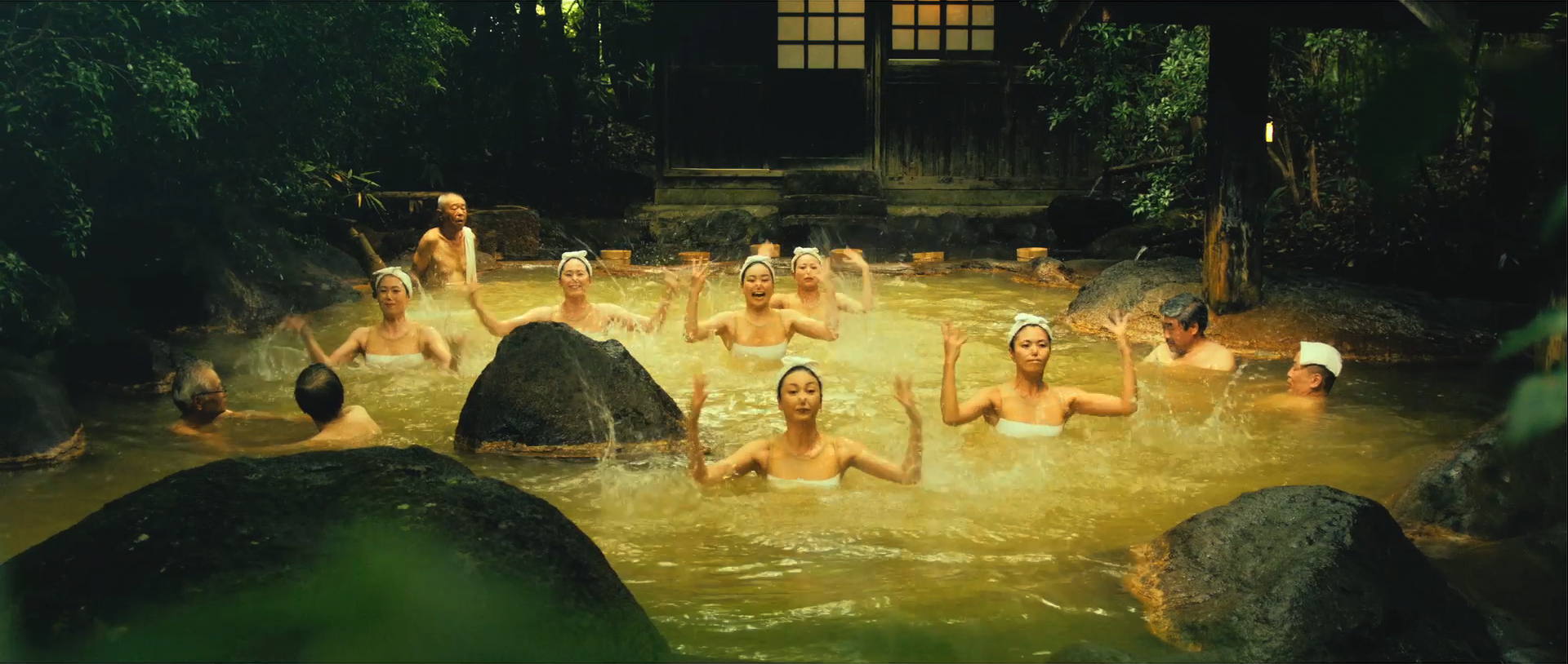Stills from Onsen ken commercial ©Oitaken