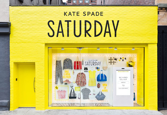 Kate Spade Saturday Windowshop Kiosks
