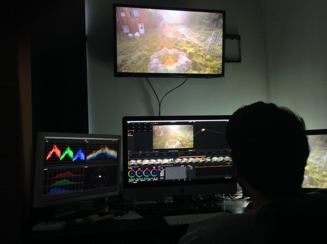 Our Colorist Frederick Trevino hard at work.