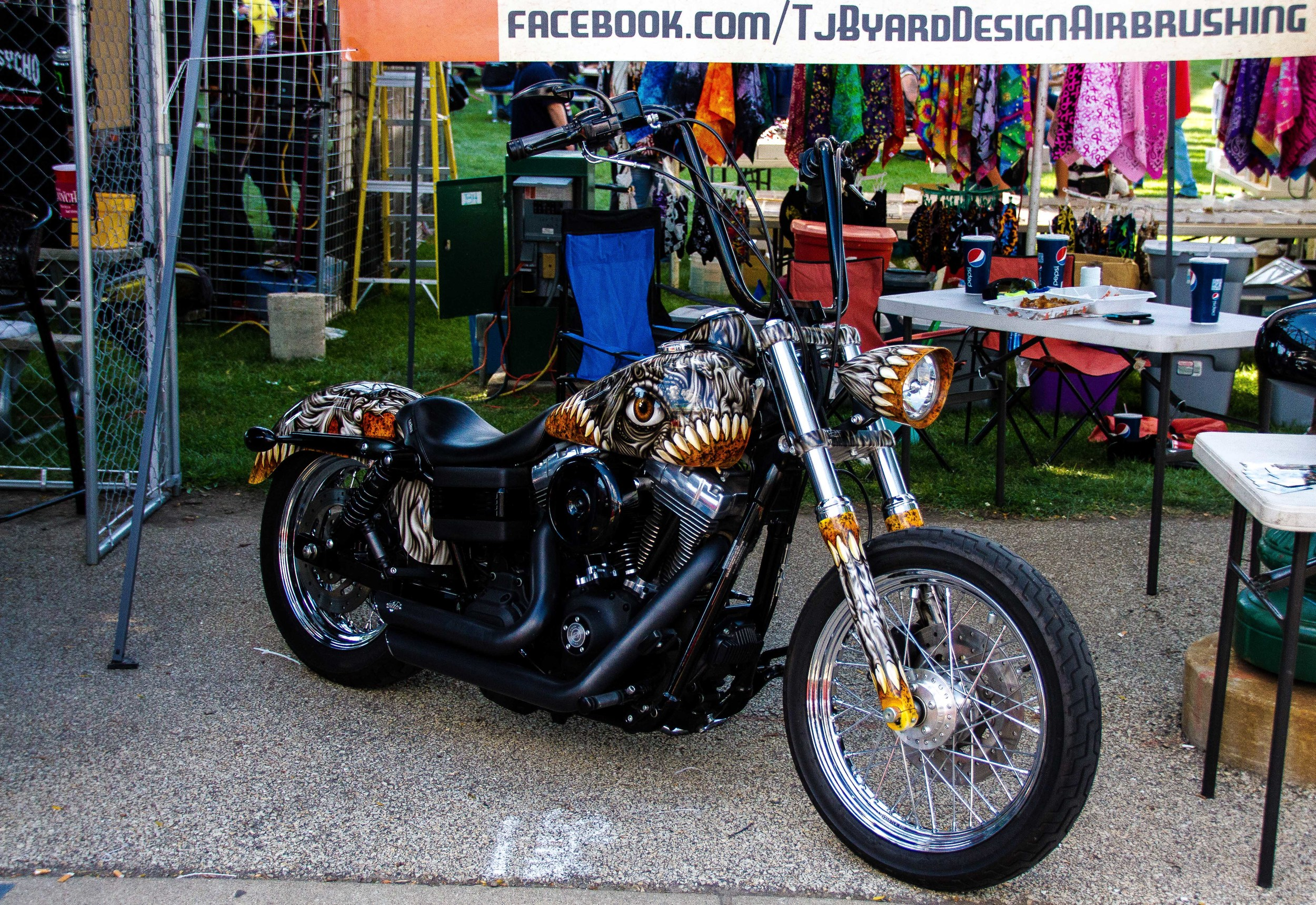 "A shot of a 2007 Harley Davidson Street Bob named ""Nightmare"""