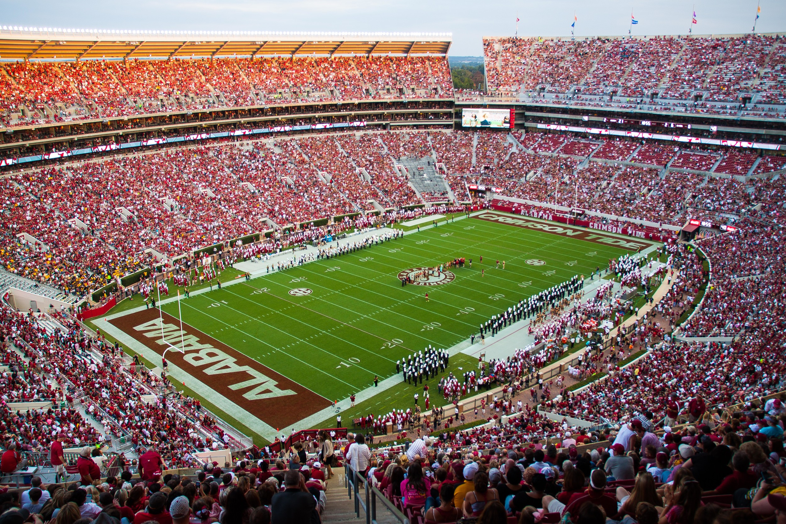 Here is a shot from one of the nose-bleed seats at Bryant Denny Stadium.  I decided to hike up to this section with five minutes left in the second quarter.
