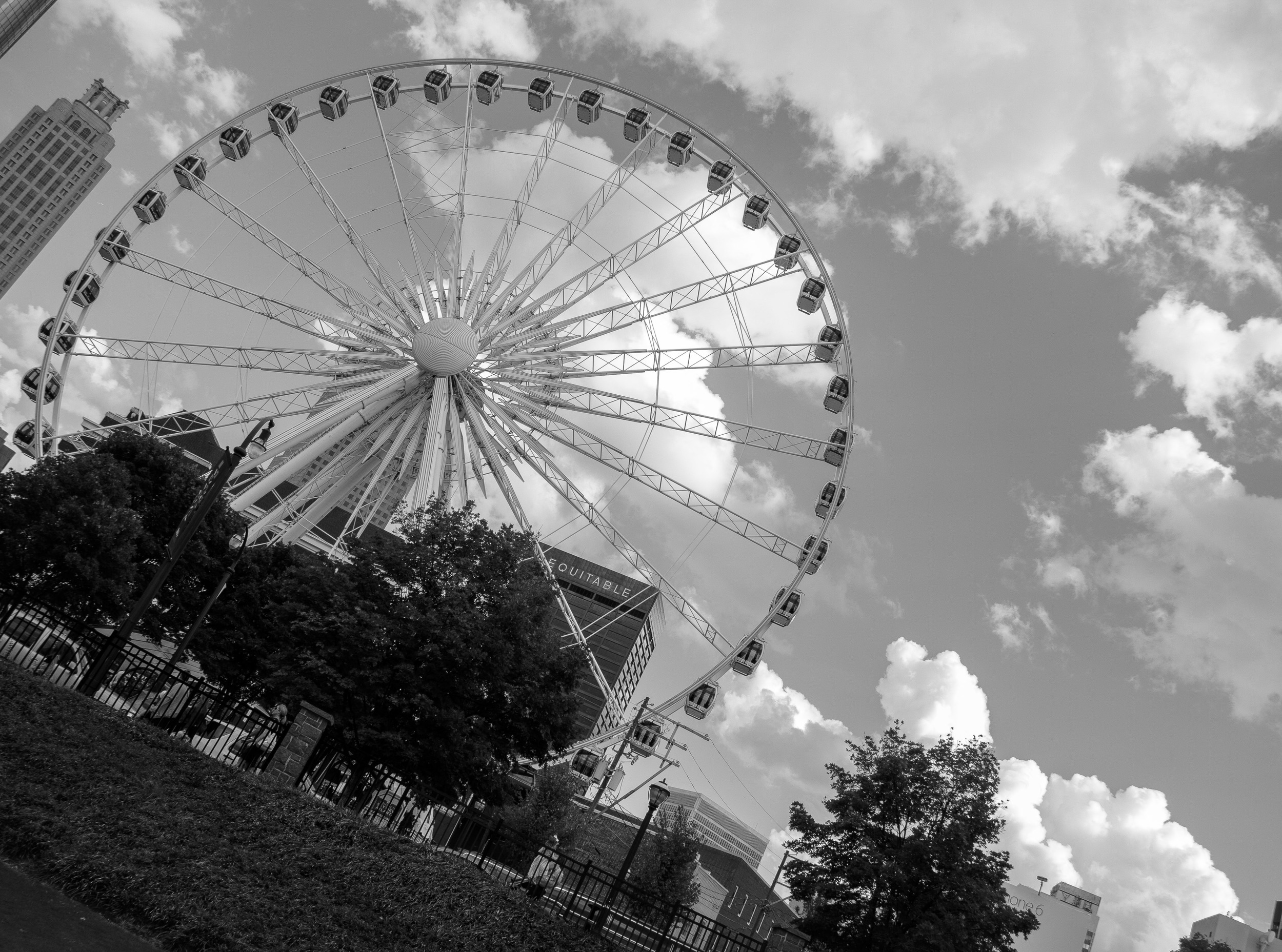 The Ferris wheel here is the Skyview Atlanta. This is by Centennial Olympic Park in Atlanta, GA
