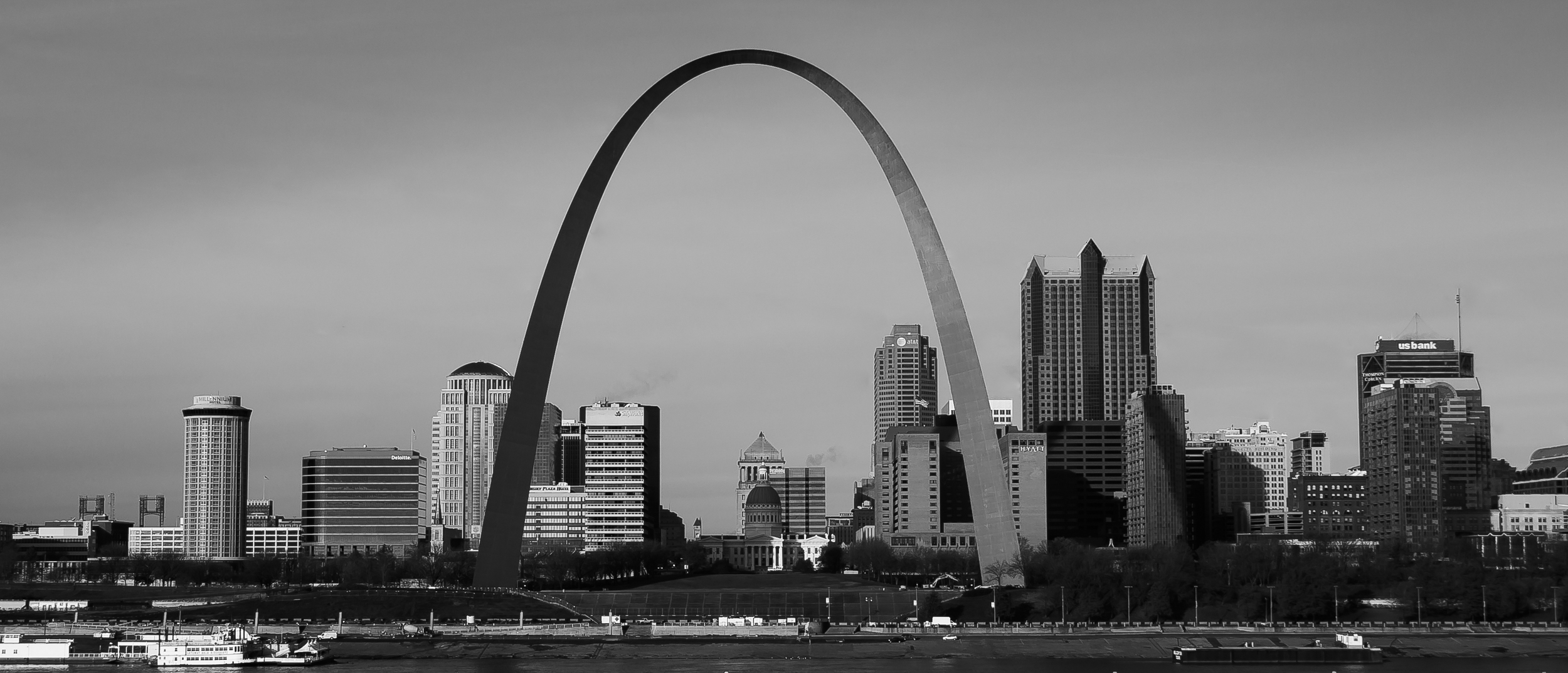 Here is a shot of the Gateway Arch from the Malcom Martin Park in East St. Louis, IL