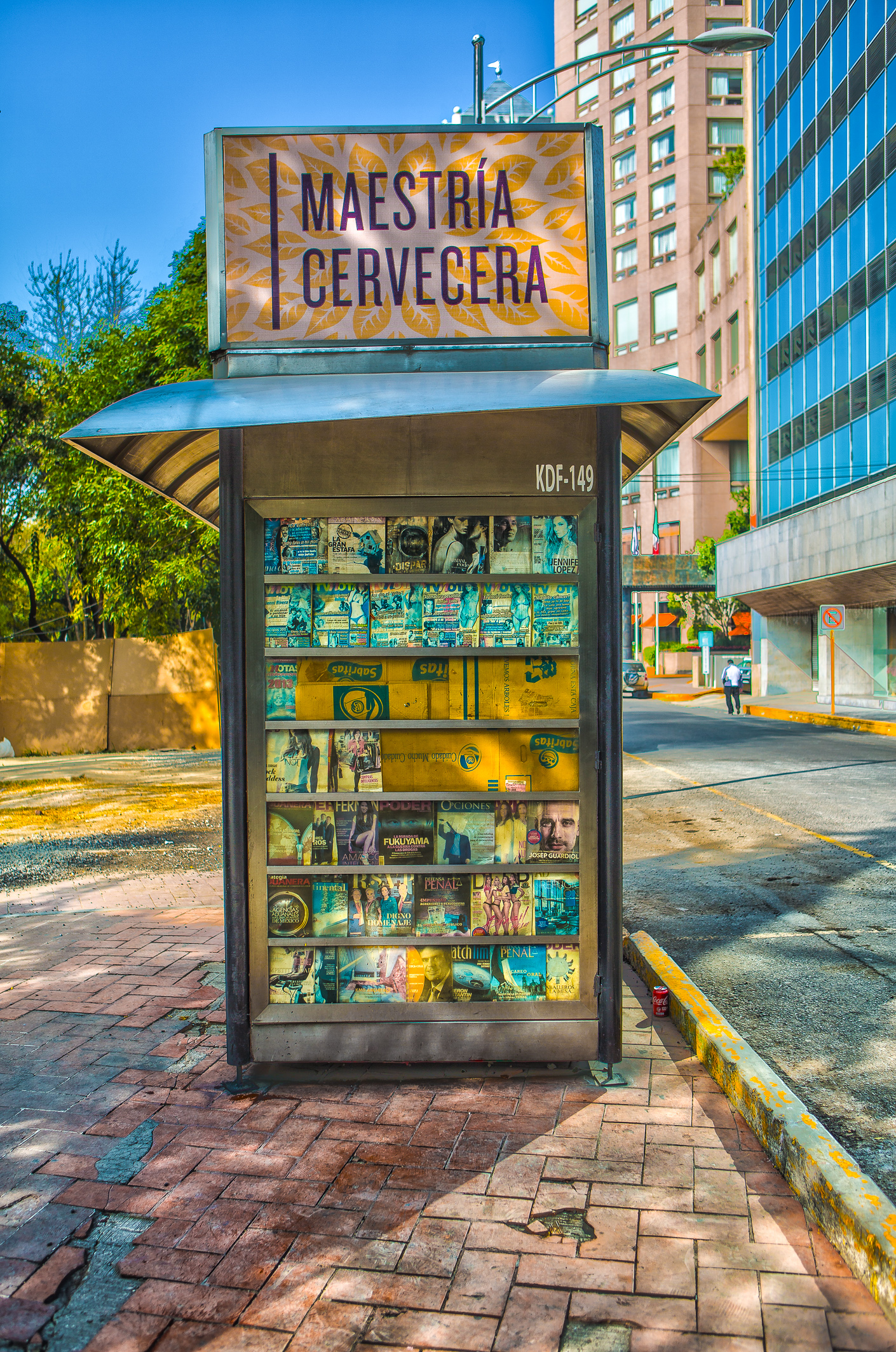 HDR image of a magazine stand in Mexico City Mexico