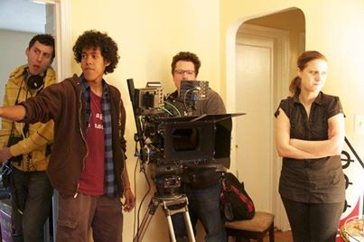 """""""Three Holes"""" crew on-set behind the RED EPIC camera"""