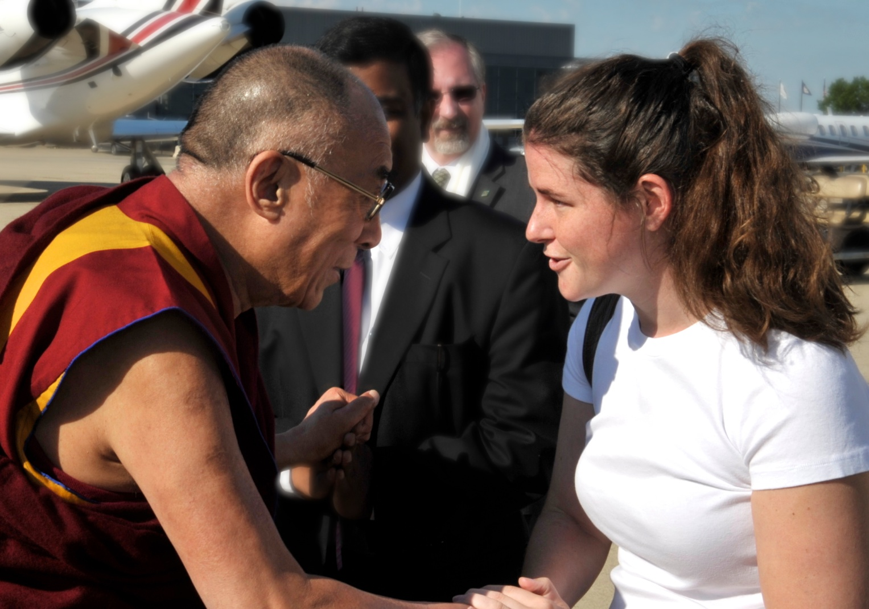 Meeting the Dalai Lama after his 2011 visit to Washington, DC for the Kalachakra Initiation. Photo courtesy of ICT/Sonam Zoksang.