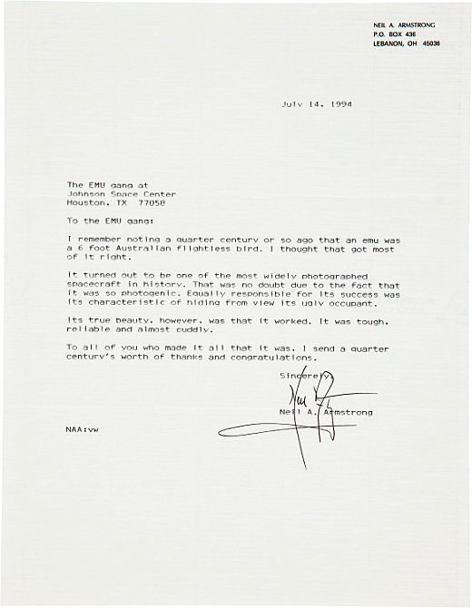 Photo borrowed fromhttp://www.lettersofnote.com/2010/11/its-true-beauty-however-was-that-it.html  I bet these engineers were happy to see this thank you note from Neil Armstrong!