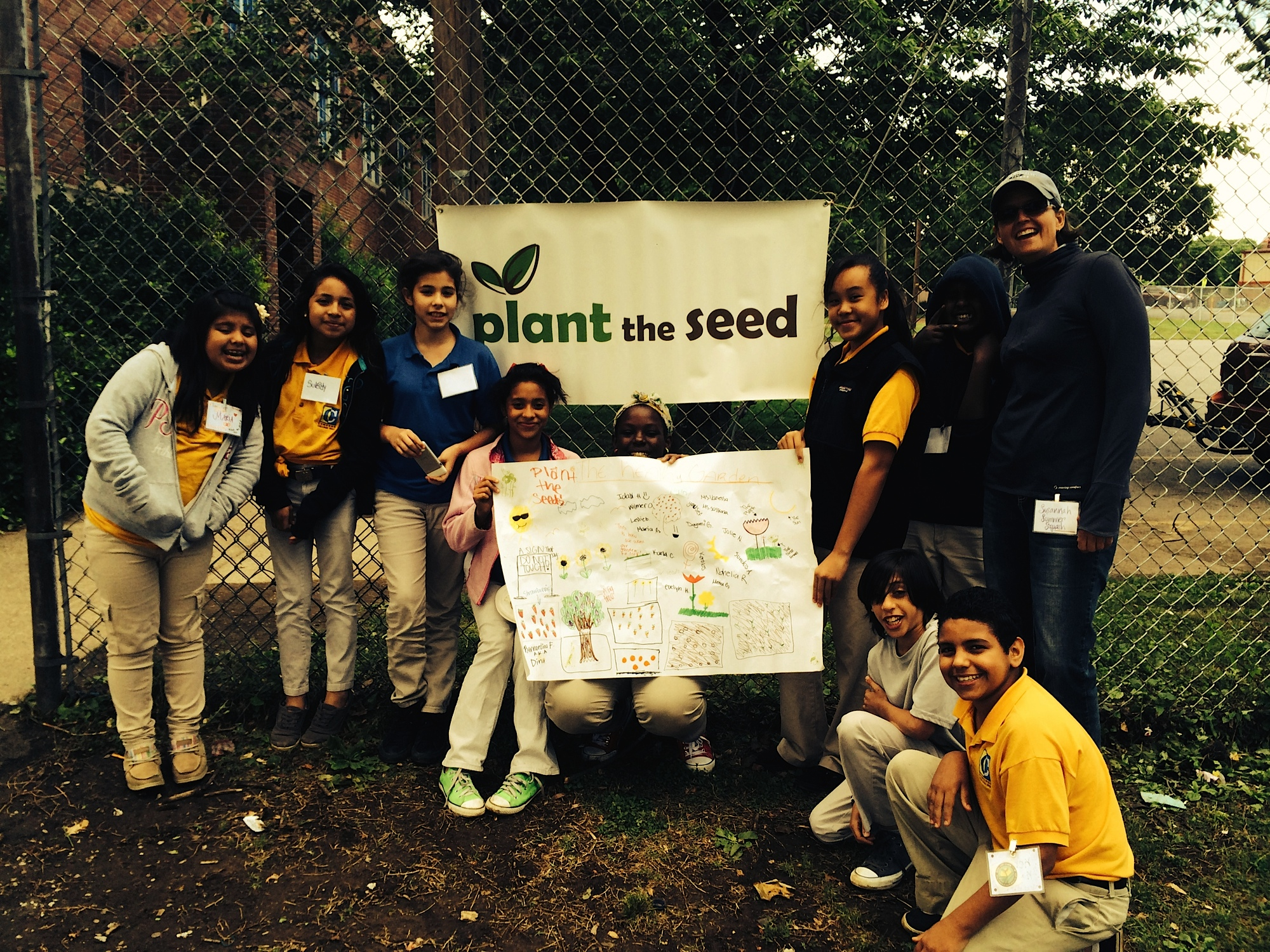 Susannah with Plant the Seed students
