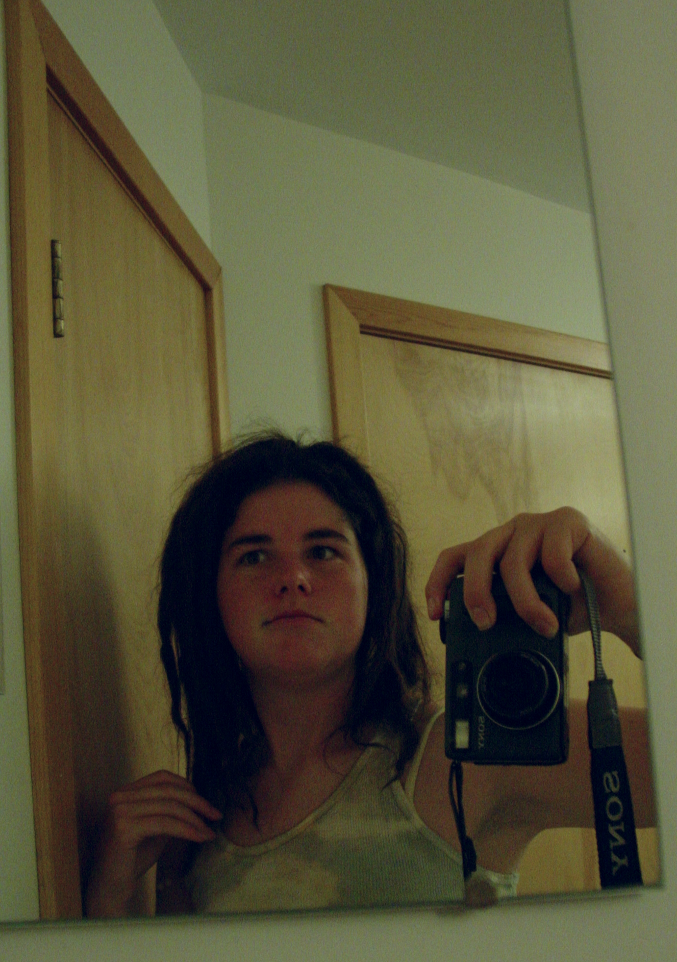 This is some serious selfie action! Check out the bulky old digital camera. :) Taken on the final day of my first retreat back in 2005. Also note the tie-dyed shirt I'm wearing. Apologies for the poor image quality!