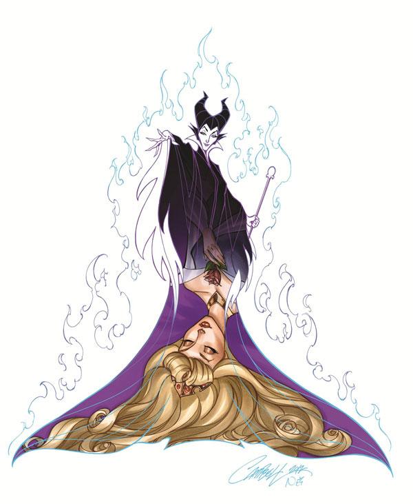 Disney Princess And Villain Art Series By J Scott Campbell