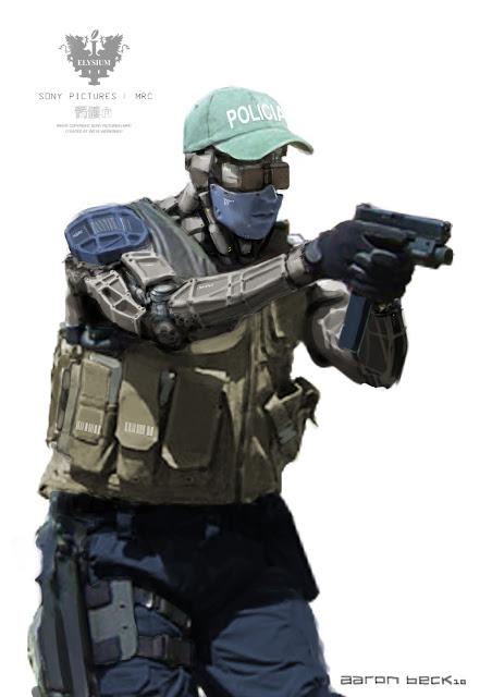 Futuristic Police Concept Art