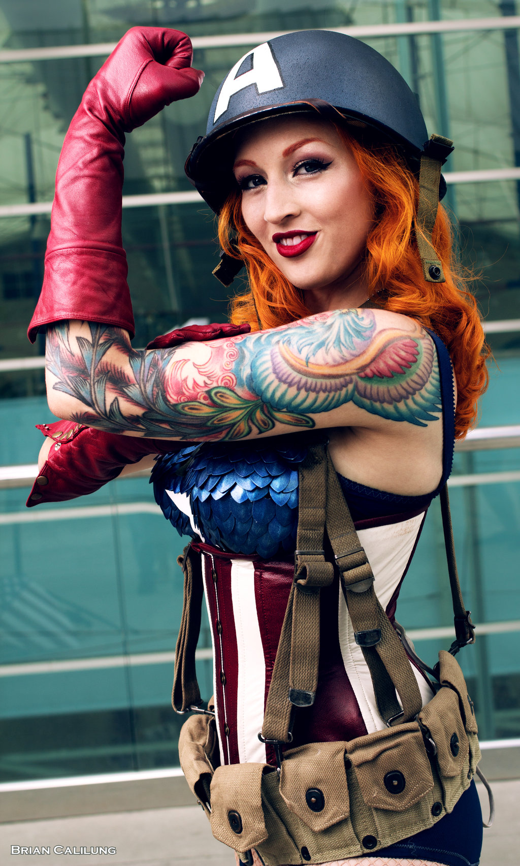 Stephanie Castro  is Captain America | Photo by  briancalilung