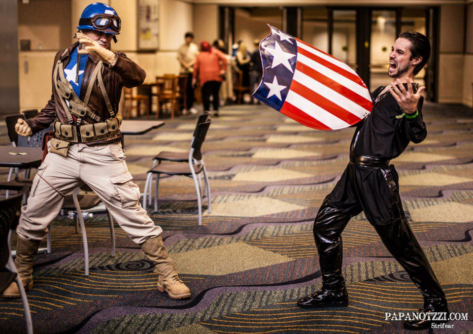 Starkiller-Cosplay  is Captain America | Unknown is Zod | Photo by  Papanotzzi
