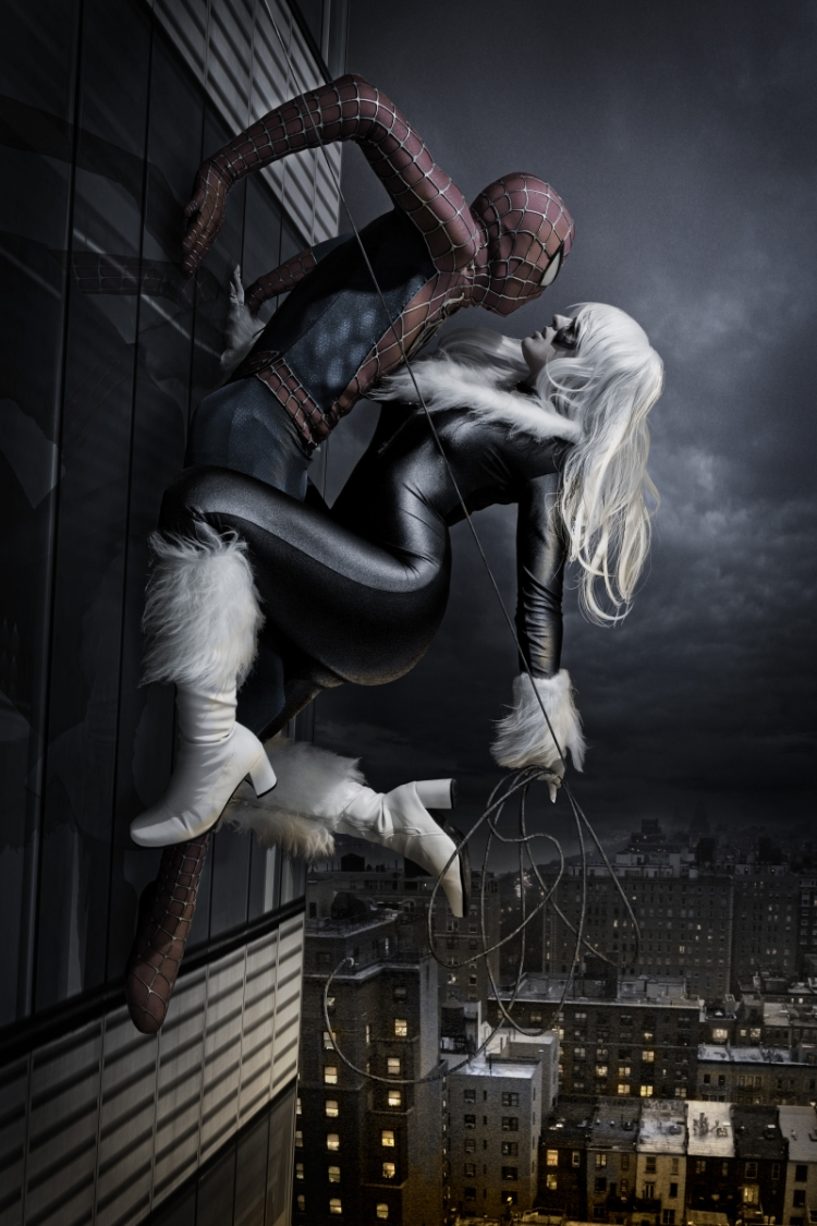 Spider Trooper is Spiderman and Tabitha Lyons is Black Cat   Photo by: Infinities Edge Studios