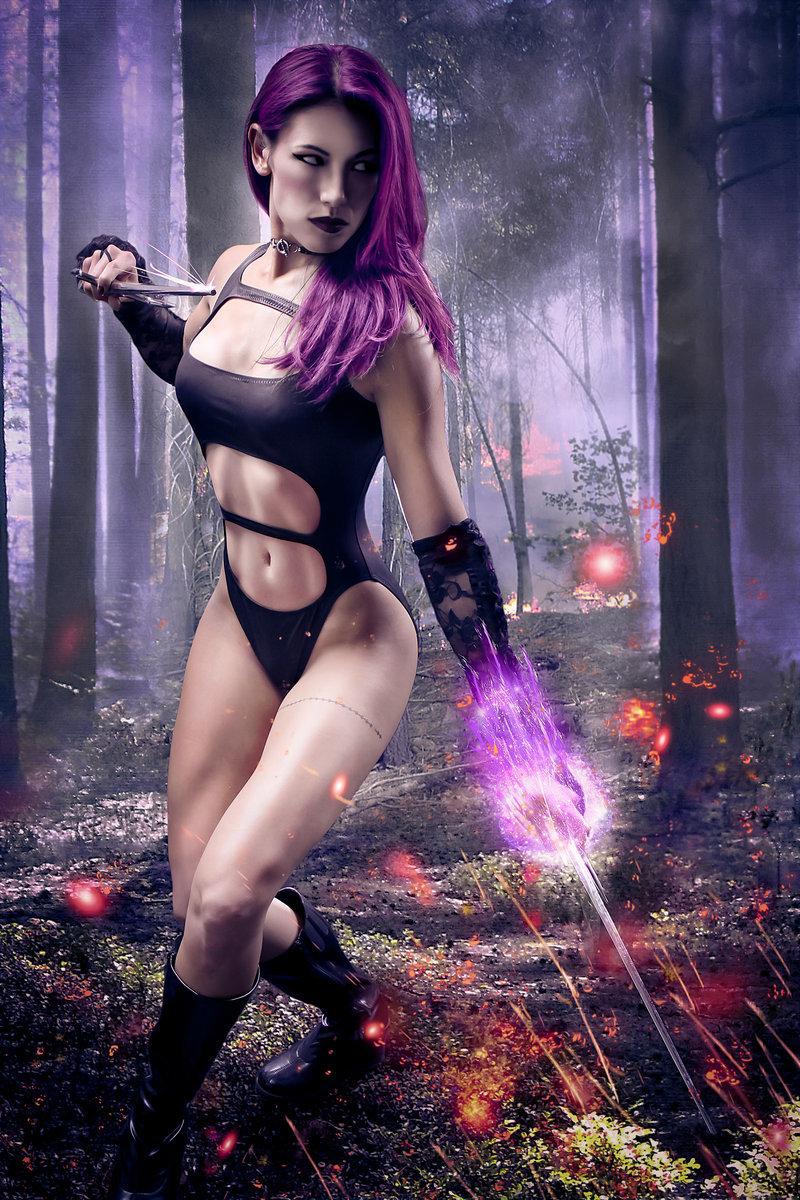 Megan Nguyen  is Psylocke | Photo by:  Don Le Studio