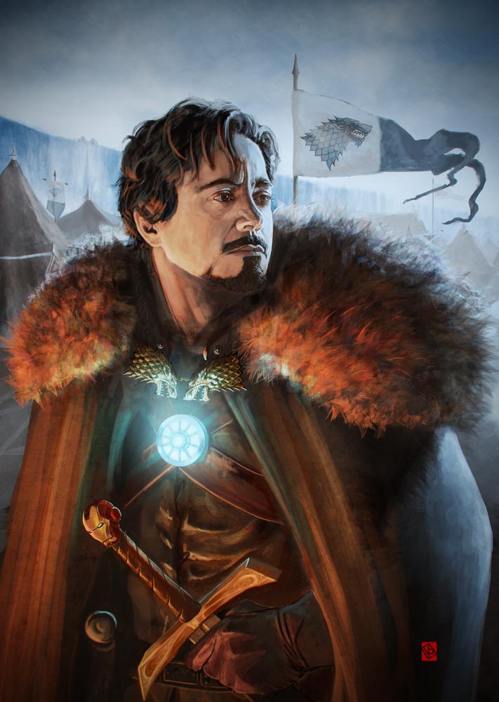 tony-stark-of-winterfell-game-of-thrones-and-iron-man-fan-art
