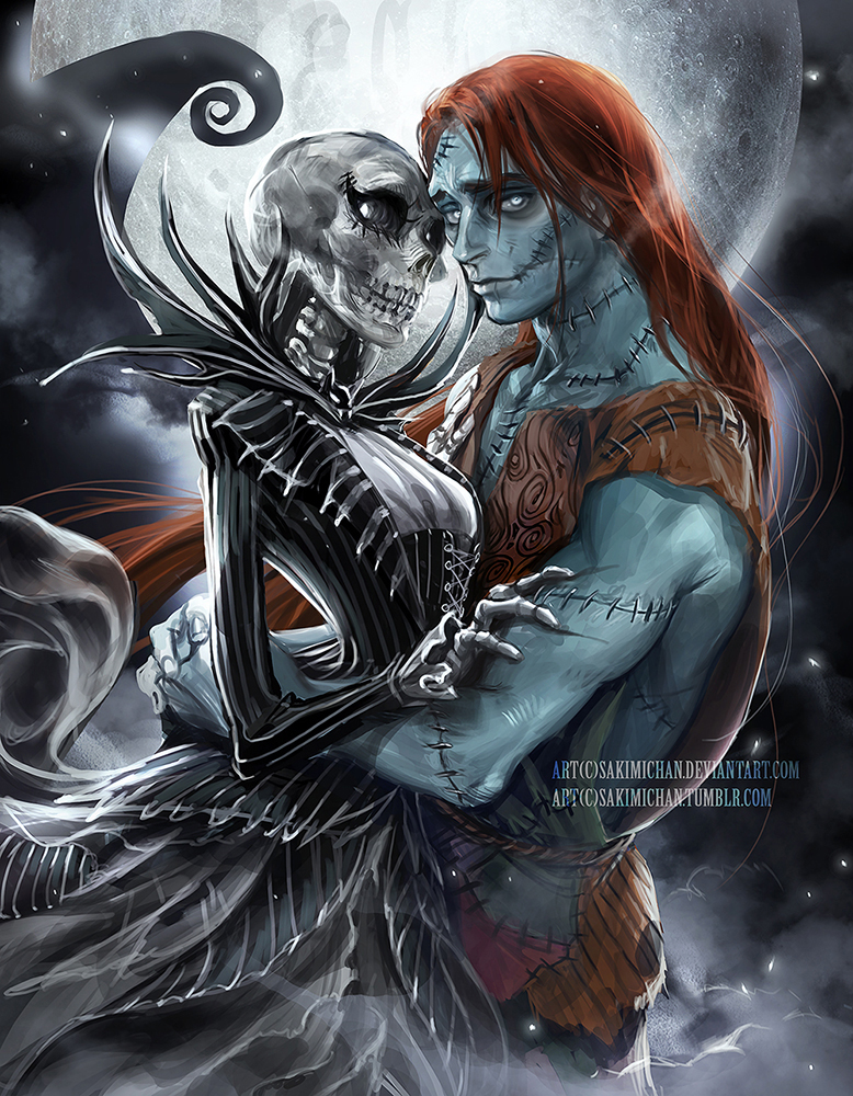 Genderbent Jack and Sally