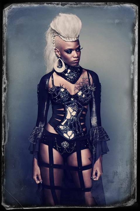 Jacqueline Elizabeth Cottrell  is Storm | Photo by:  Jamais Vu Photo Artistry  | Clothes by:  Kicka Custom Designs