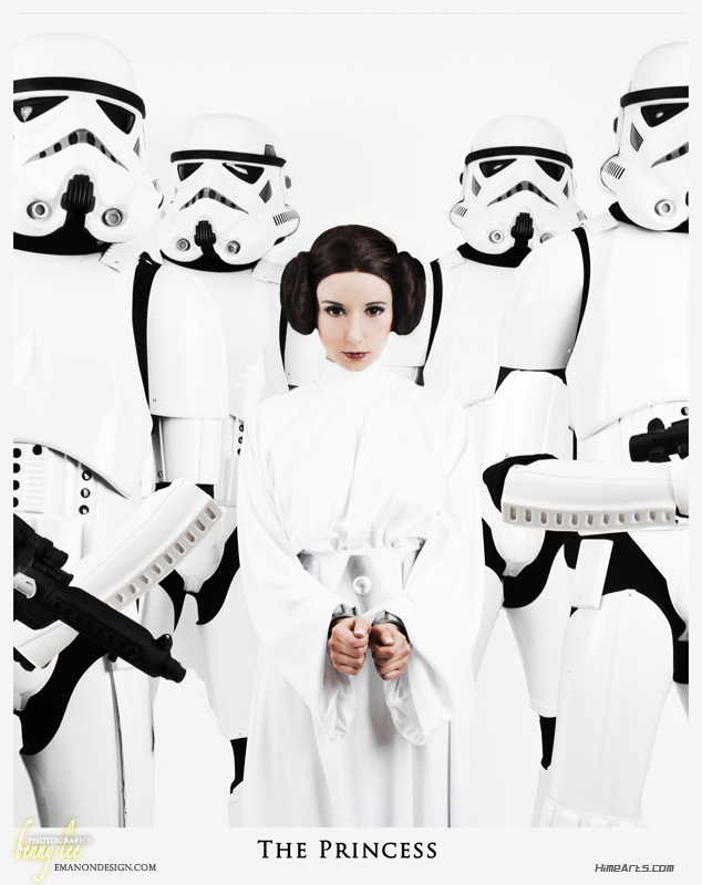 Riddel is Princess Leia — Photo by Benny Lee —Concept by  Allison Sohn