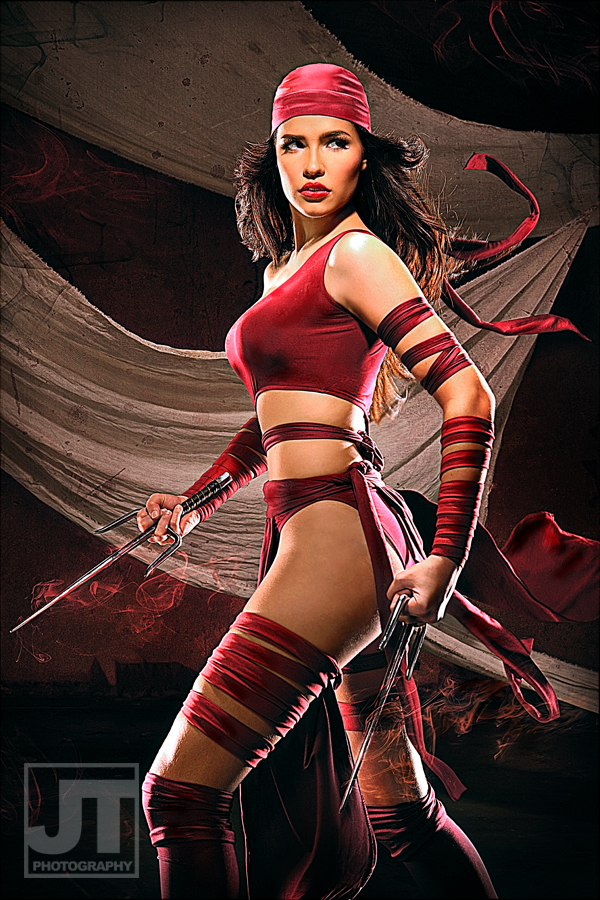 Nadine Howell is Elektra | Photo by:  Jay Tablante  | Makeup and Styling by: Paul Refol and Hannah Kim | Costume Production and Costume Design by: Badj Genato and Raffy Tesoro | Art Directing by: Carl Urgino | Digital Imaging by: Ghani Madueno