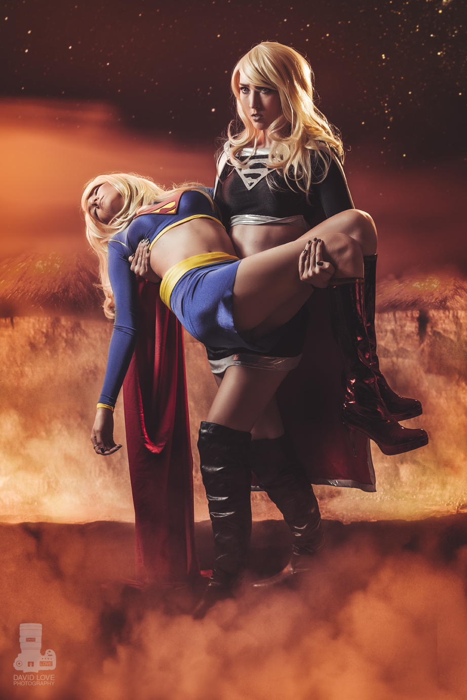 Heather1337  and  Jenifer Ann  are Supergirl — Photo by  David Love