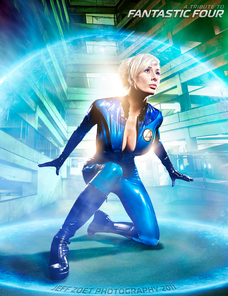 Marie Claude Bourbonnais  is Invisible Woman | Photo by:  Jeff Zoet Photography