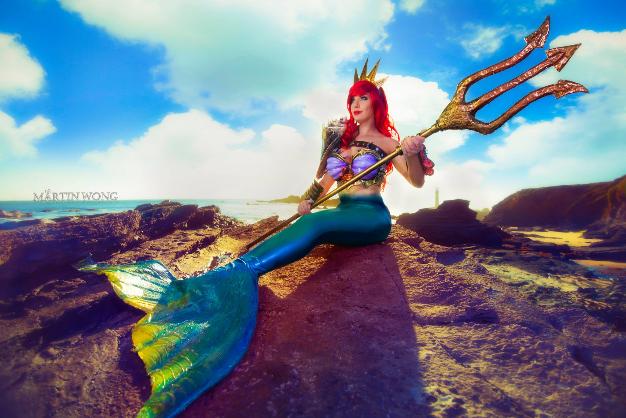 Lisa-Lou-Who  is Ariel, The Little Mermaid — Photo by  Martin Wong