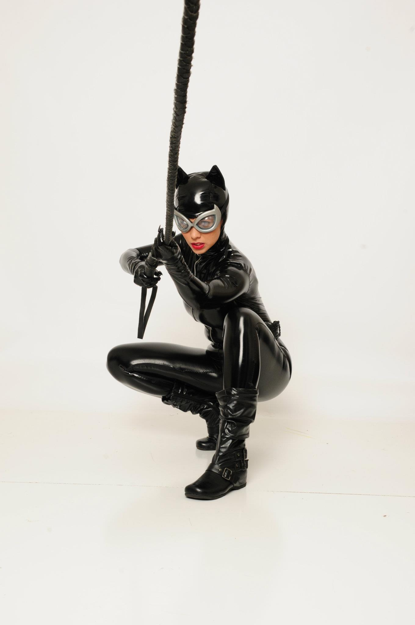 Margie Cox is Catwoman — Photo by Grace Moss at Bodhi Tree Photography